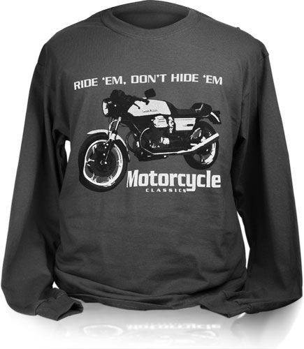MOTORCYCLE CLASSICS LONG SLEEVE T-SHIRT (M) - LE MANS