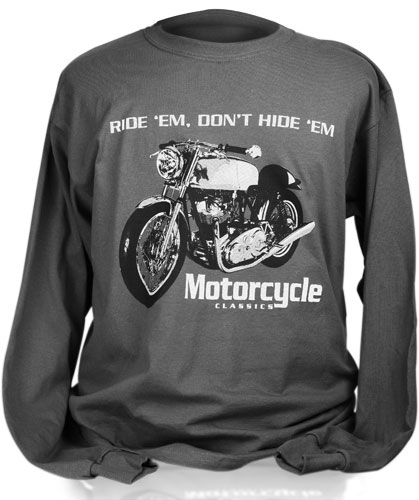 MOTORCYCLE CLASSICS LONG SLEEVE T-SHIRT (S) - COMMANDO