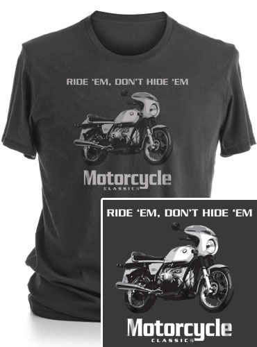 MOTORCYCLE CLASSICS SHORT SLEEVE T-SHIRT (S) - BMW R90S