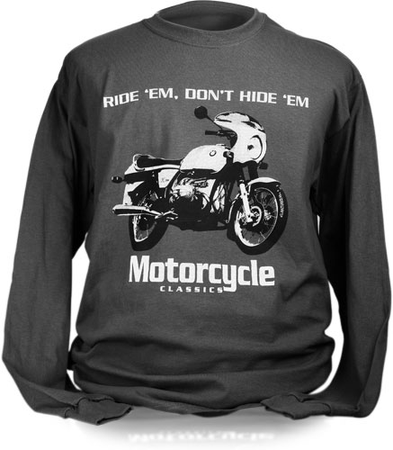 MOTORCYCLE CLASSICS LONG SLEEVE T-SHIRT (S) - BMW R90S