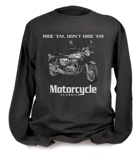 MOTORCYCLE CLASSICS LONG SLEEVE T-SHIRT HONDA CB750 (M)