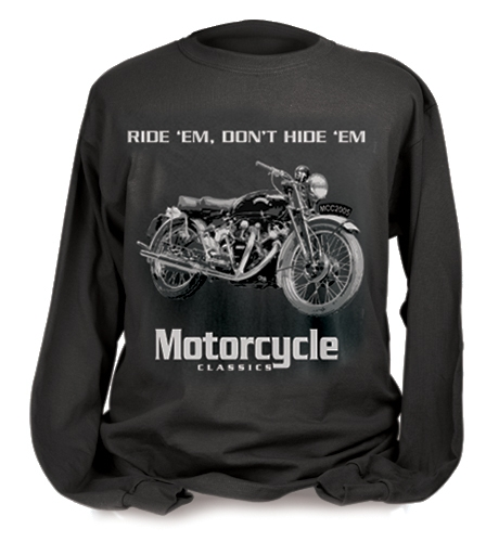 MOTORCYCLE CLASSICS LONG SLEEVE, VINCENT BLACK SHADOW (S)