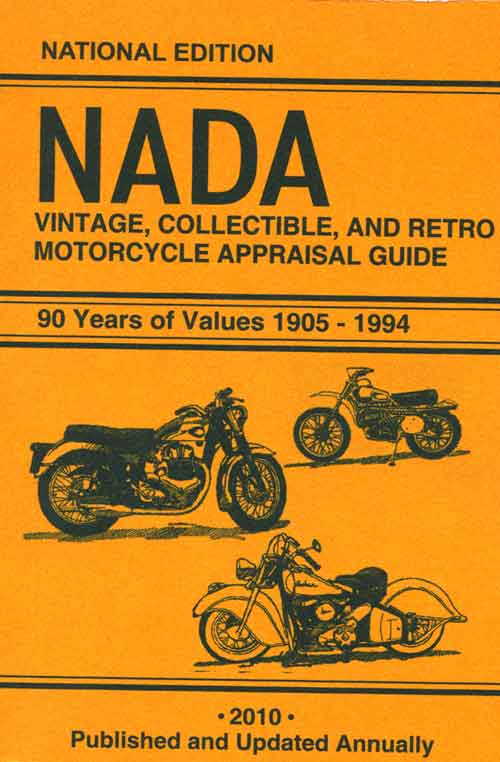 NADA RETRO MOTORCYCLE APPRAISAL GUIDE 2010