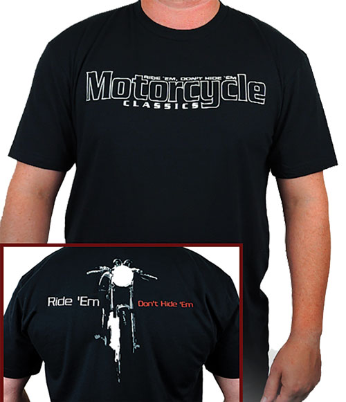 MOTORCYCLE CLASSICS SHORTSLEEVE BLACK T-SHIRT - 3XLARGE