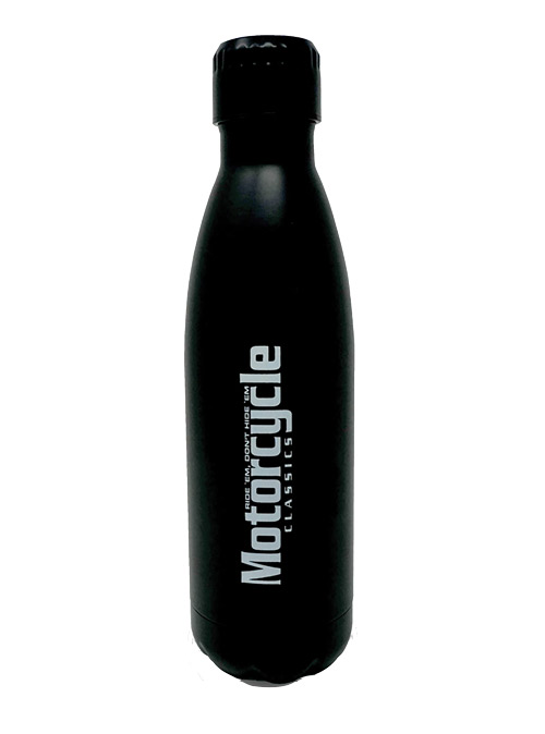 MOTORCYCLE CLASSICS STAINLESS STEEL WATER BOTTLE
