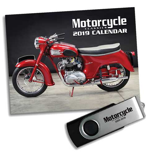 MOTORCYCLE CLASSICS 2019 CALENDAR & 2018 ARCHIVE PACKAGE