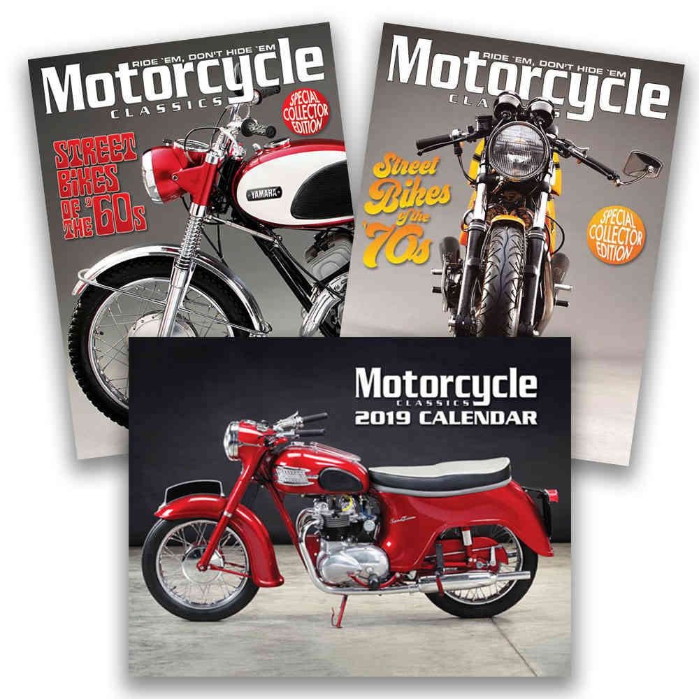 MOTORCYCLE CLASSICS BIKES OF THE 60'S & 70'S CALENDAR PACKAGE