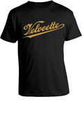 VELOCETTE T-SHIRT, BLACK (SMALL)