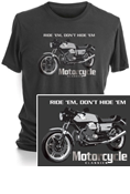 MOTORCYCLE CLASSICS SHORT SLEEVE T-SHIRT - SMALL - LE MANS