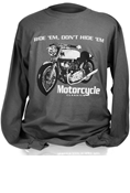 MOTORCYCLE CLASSICS LONG SLEEVE T-SHIRT - SMALL - COMMANDO