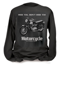 MOTORCYCLE CLASSICS LONG SLEEVE T-SHIRT - SMALL - TRIUMPH BONNEVILLE