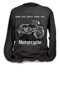 MOTORCYCLE CLASSICS LONG SLEEVE T-SHIRT - SMALL -  VINCENT BLACK SHADOW
