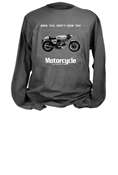 MOTORCYCLE CLASSICS LONG SLEEVE T-SHIRT - SMALL -  DUCATI 750 SPORT