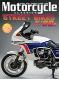 MOTORCYCLE CLASSICS STREET BIKES OF THE '80S